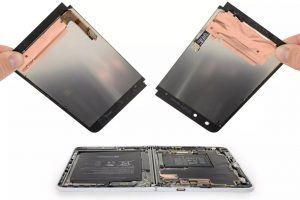 Microsoft Surface Duo Battery section