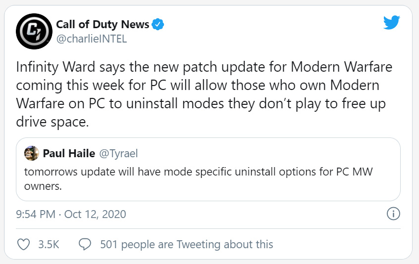 توییت Call od Duty News در توییتر